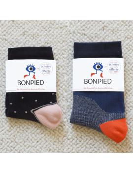 Pack de 2 paires de chaussettes: Claudine et Philibert