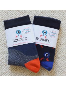Pack de 2 paires de chaussettes: Philibert & le Grand Edgar