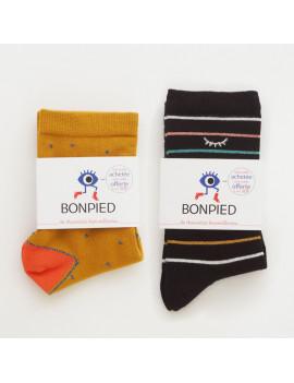 Pack de 2 paires de chaussettes: Sandrine & Sidonie