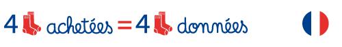 4 paires de chaussettes achetées = 4 paires de chaussettes données – Fabriqué en France